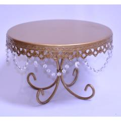 Rental store for 10  Round Gold Crystal Cake Stand in Santa Ana CA