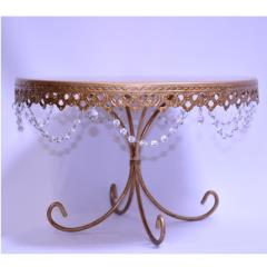 Rental store for 13  Round Gold Crystal Cake Stand in Santa Ana CA