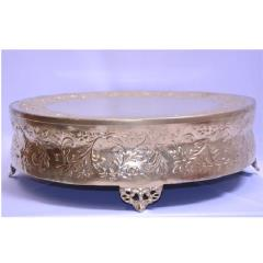 Rental store for 20  Round Embossed Cake Stand in Santa Ana CA