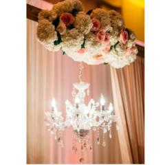 Rental store for 18 -22  Silver Crystal Chandelier in Santa Ana CA