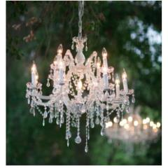 Rental store for 28  Silver Crystal Chandelier in Santa Ana CA