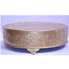 "Rental store for 18"" Round Embossed Cake Stand in Santa Ana CA"