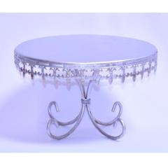 Rental store for 10  Round Silver Cake Stand in Santa Ana CA