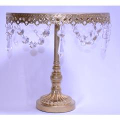 Rental store for 12  Round Gold Crystal Cake Stand in Santa Ana CA