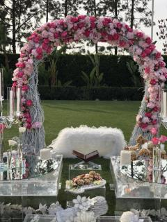 Rental store for Curly Willow Arch w  Silk Flowers in Santa Ana CA