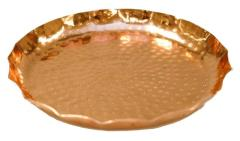 Rental store for Copper Hammered Tray, Scalloped Edges in Santa Ana CA