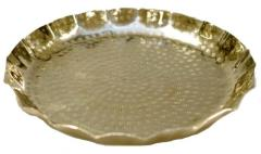 Rental store for Silver Hammered Tray, Scalloped Edges in Santa Ana CA