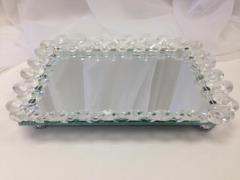 Rental store for Crystal Framed Mirror Tray in Santa Ana CA