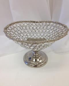 Rental store for Silver Bling Pedestal Bowl, Oval in Santa Ana CA