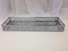 Rental store for Silver Doily Edge Tray in Santa Ana CA