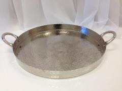 Rental store for Silver Round Hammered Tray in Santa Ana CA