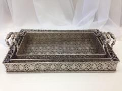 Rental store for Silver Doily Tray, Large in Santa Ana CA